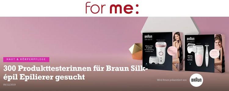 for me Gewinnspiel: Braun Epilierer
