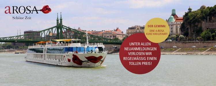 A-Rosa Newsletter abonnieren &Flusskreuzfahrt gewinnen