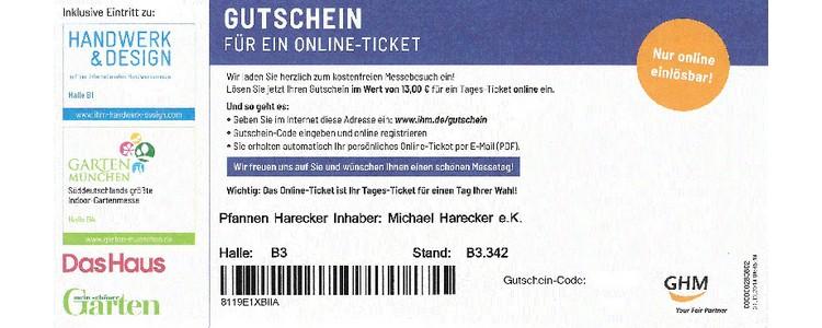 Eintritt Handwerks- und Gartenmesse in München