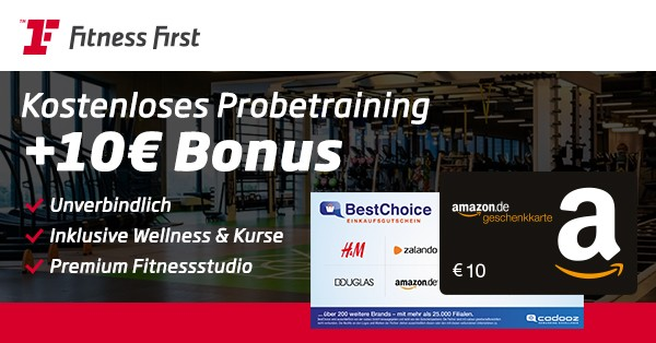 Fitness First 10€ Gutschein