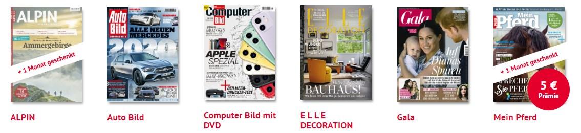 Zeitschriften 3 Monate kostenlos lesen