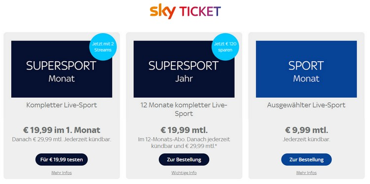 Sky Sport Tickets
