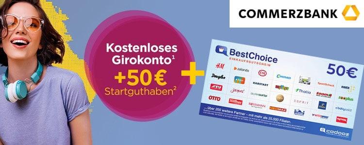 Commerzbank 50€ + 50€ Gutschein
