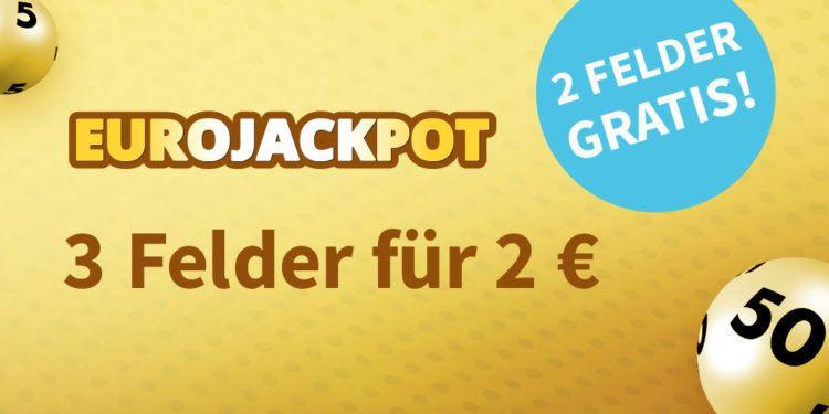 Eurojackpot 2 Felder geschenkt
