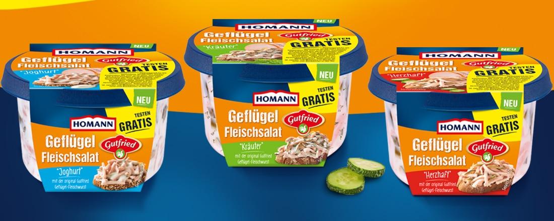 Homann Geflügel-Fleischsalat