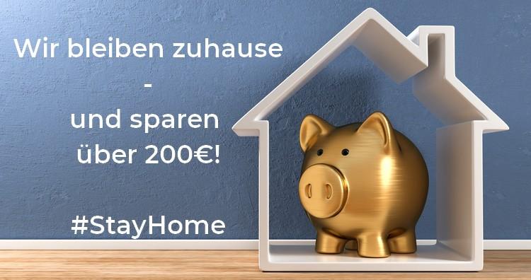 StayHome und Geld sparen