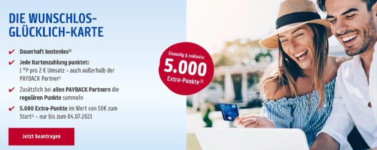 Amex Payback 5.000 Punkte gratis