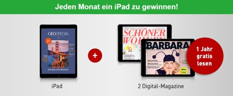 iPad bei Gruner & Jahr gewinnen