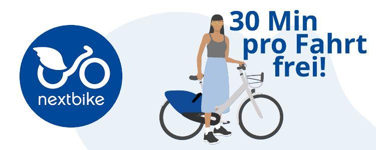 Nextbike 30 Minuten kostenlos