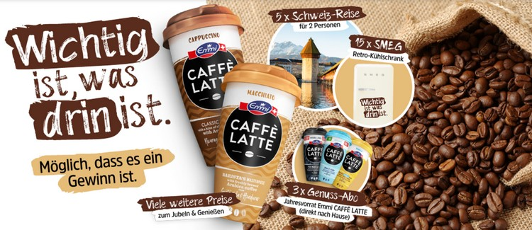 Emmi Caffé Latte Gewinnspiel