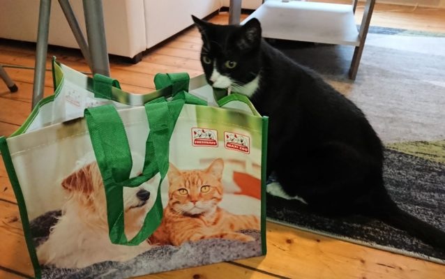Fressnapf-Tasche mit Oreo