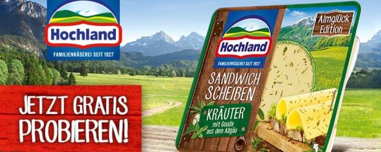 Hochland Sandwich Scheiben gratis testen