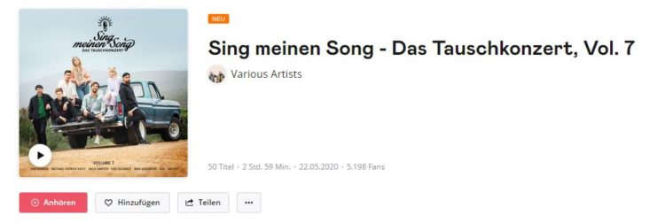 Sing meinen Song Album