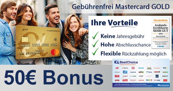 Advanzia Mastercard + 50€ Gutschein