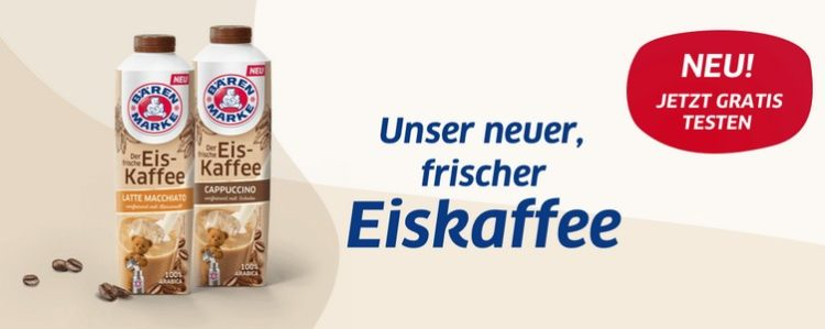 Eiskaffee von Bärenmarke gratis testen