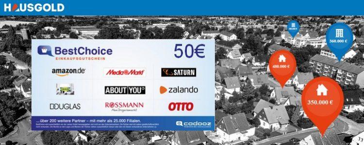 BestChoice Gutschein für Immobilienbewertung bei HAUSGOLD
