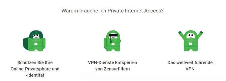 Gründe für VPN PIA