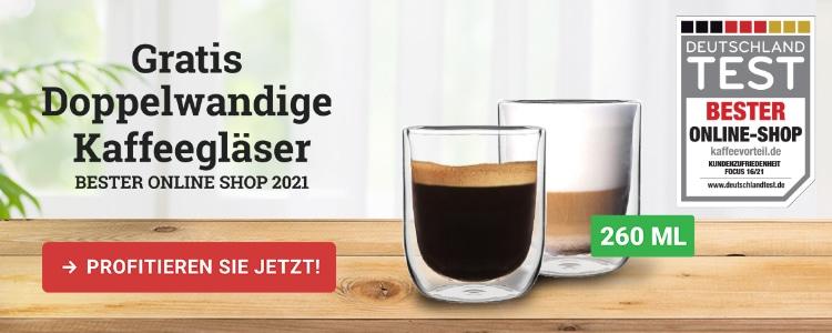 doppelwandige Kaffeegläser gratis