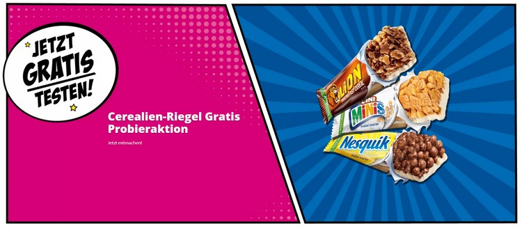 Nestle Cerealien Riegel gratis testen