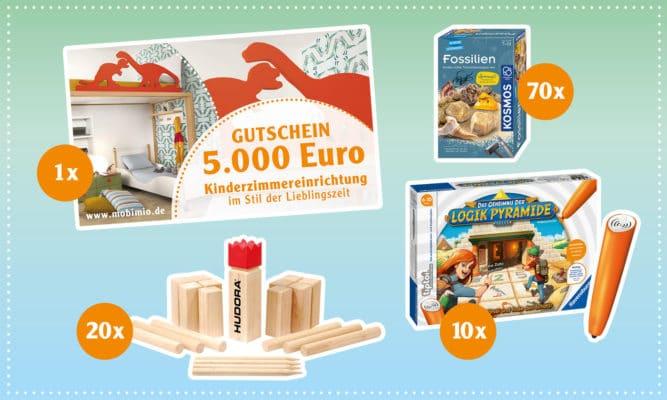 Preise beim Globus-Ferrero-GEwinnspiel