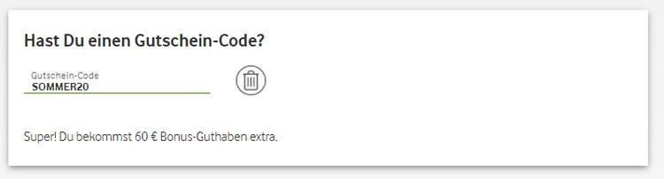 Gutschein-Code Vodafone