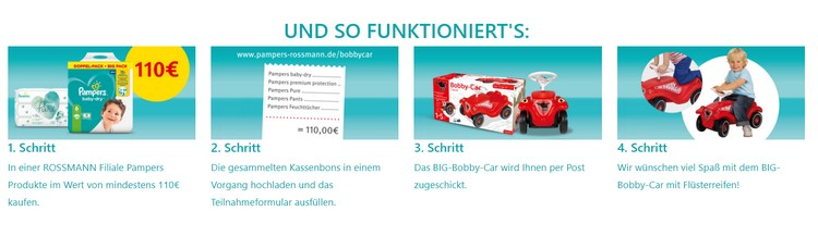 So funktionierts Pampers
