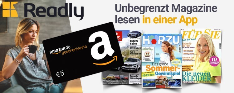 readly 5€ Amazon-Gutschein