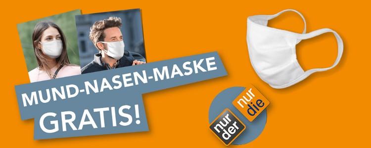 Nur die gratis Maske
