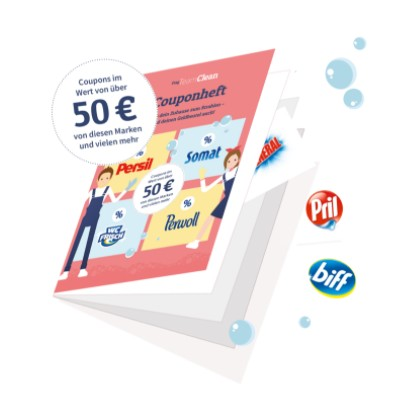 Couponheft von Team Clean