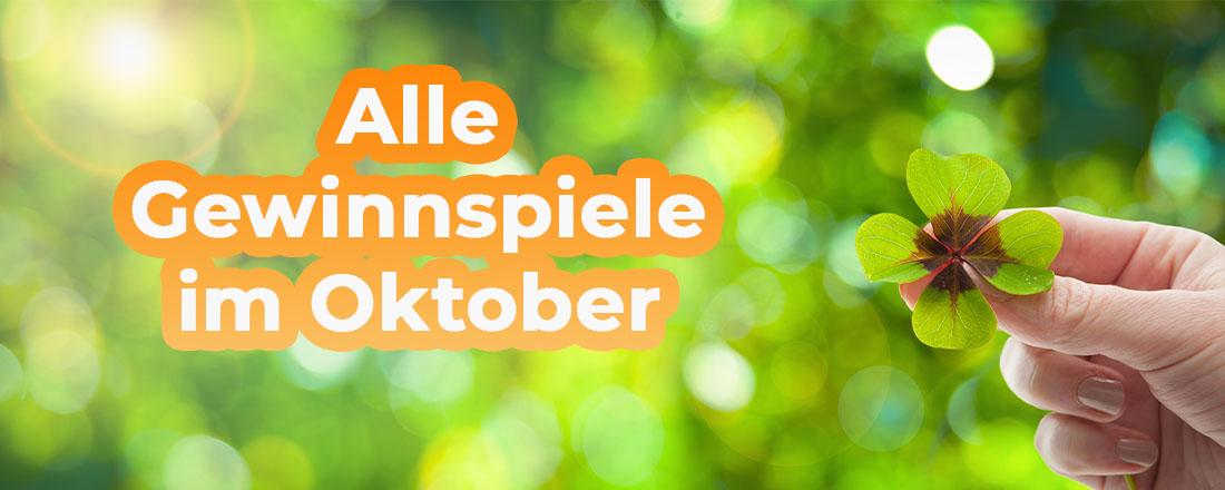 Gewinnspiele im Oktober