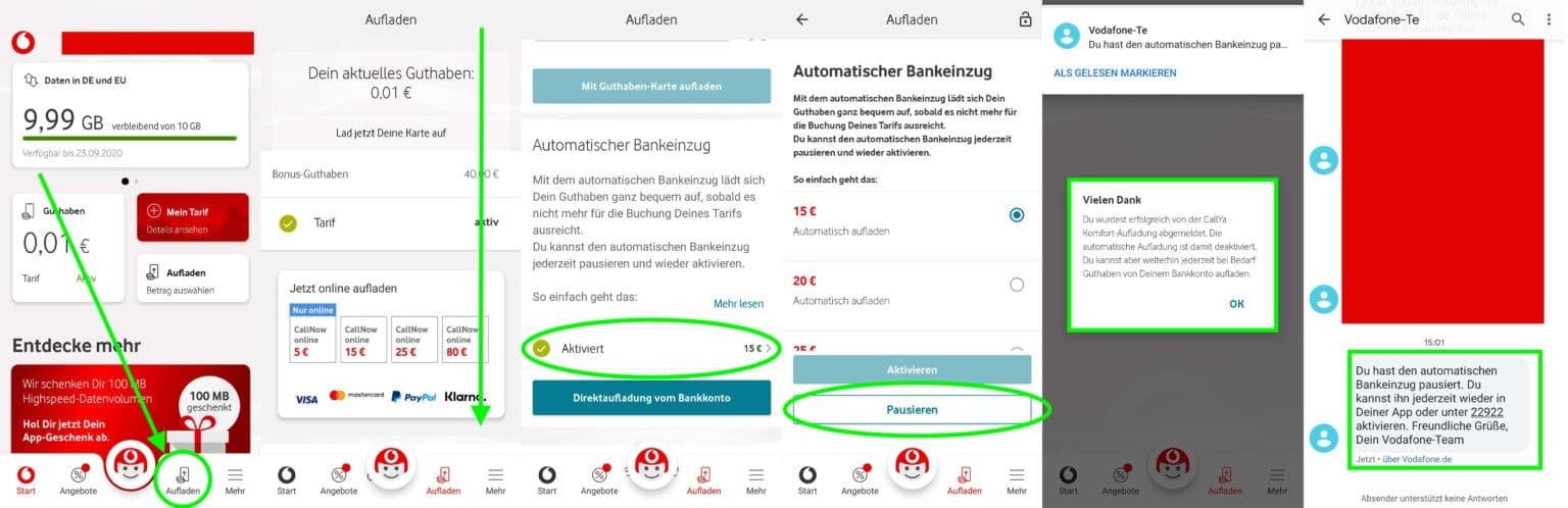 Vodafone Bankeinzug stoppen