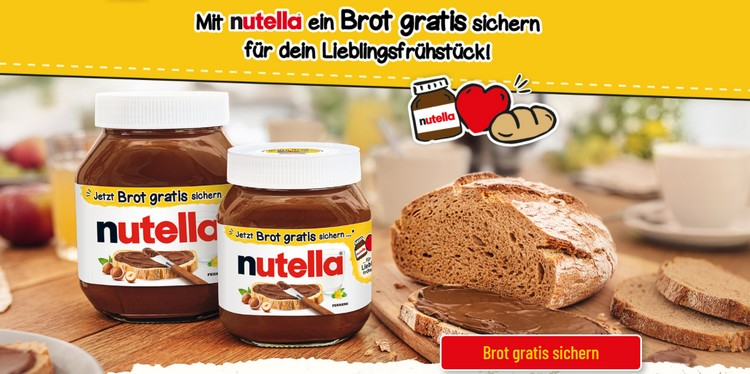 Nutella Brot-Aktion
