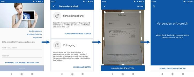 Screenshots UKV-App