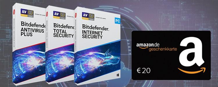 Bitdefender + 20€ Amazon-Gutschein