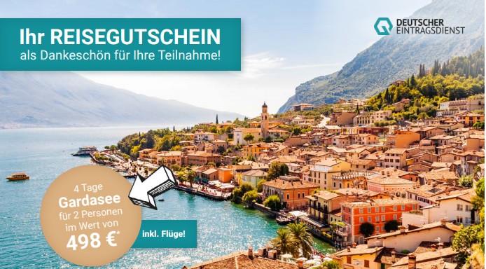 Reisegutschein von Deutscher Eintragsdienst