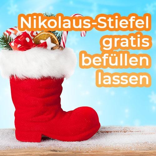 Nikolaus-stiefel gratis befüllen lassen