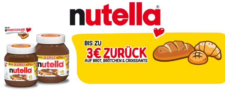 Nutella Geld-zurück-Aktion