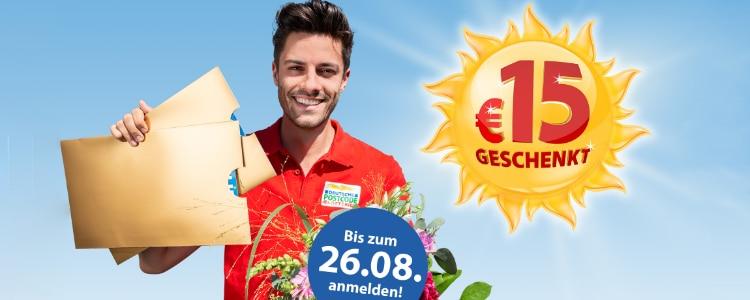 Deutsche Postcode Lotterie: 15€ Cashback