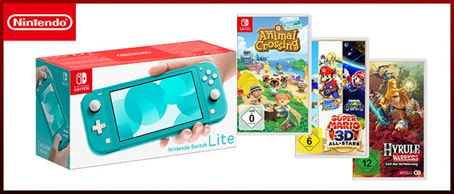 Nintendo Switch Lite inkl. Spiele