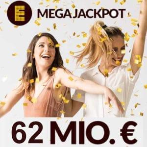 62 Millionen € im Eurojackpot