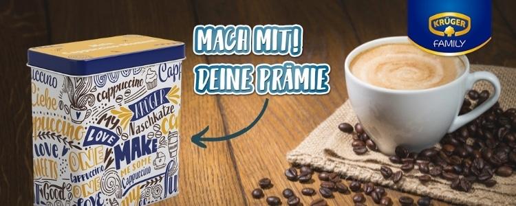 Krüger Cappuccino Dose gratis