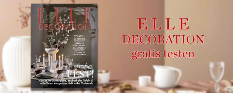ELLE Decoration gratis testen