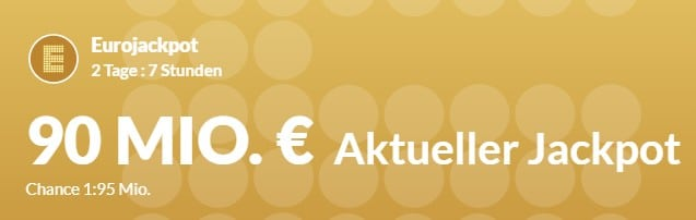 90 Mio € im Eurojackpot