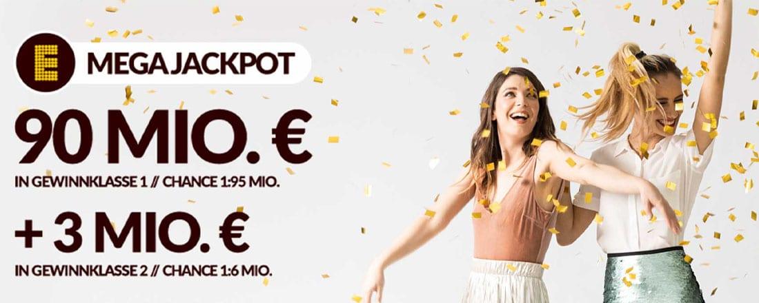 90 Mio € im Europjackpot