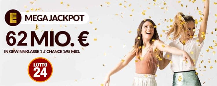 Lotto24: 62 Mio im Eurojackpot