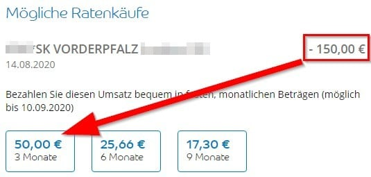 Ratenzahlung Barclaycard