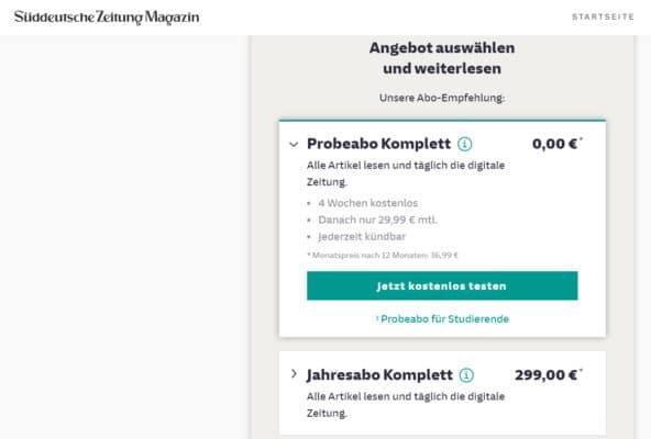 Süddeutsche Zeitung Plus