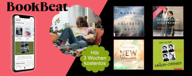 BookBeat 3 Wochen gratis
