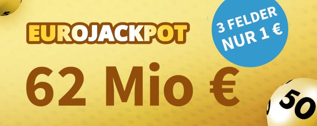 EuroJackpot 62 Mio €