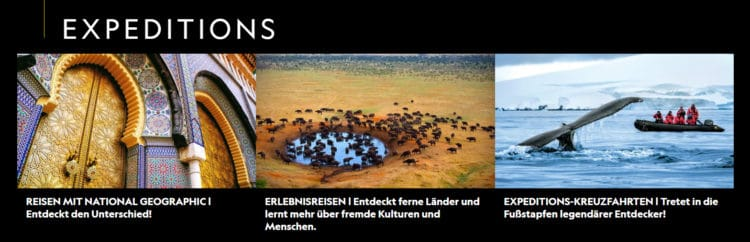 Reisen mit National Geographic